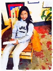 Vannisa in the gallery
