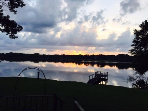 White Castle Lake sunset