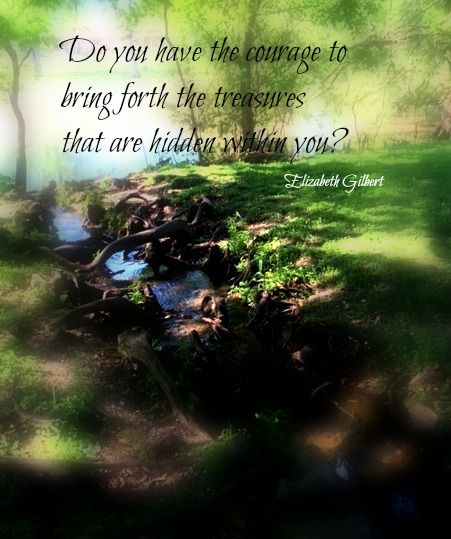 flowing stream with quote