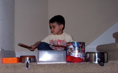 Jack's first drum set