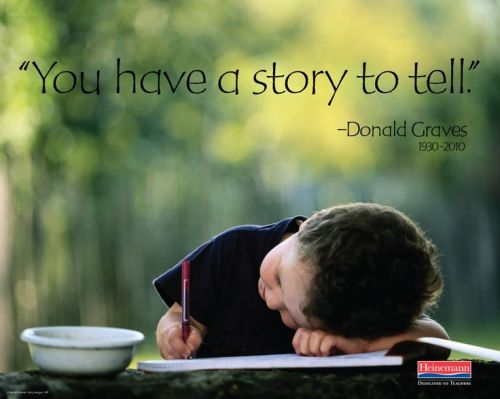 you have a story to tell