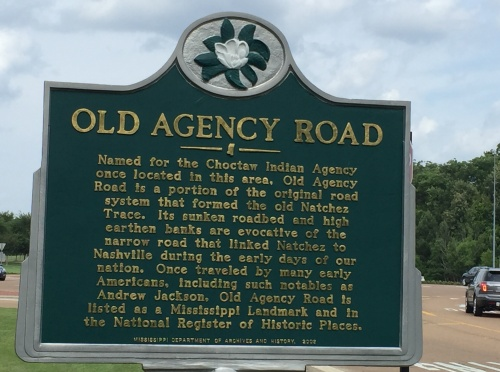 Old Agency Rd. sign