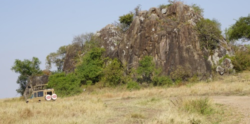 Kopjes (pronounced ko-pee-us) dotted the Serengeti landscape.