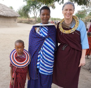 Me with my new Maasai friend, Namitu.