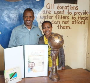 Proud of his Globe Award, Mesiaki is passing the skills to his daughter.