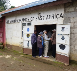 Front of Safe Water Ceramics in Arusha, Tanzania.