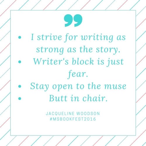 I strive for writingas strong as the story.writer's block is just fear.stay open to the musebutt in chair.