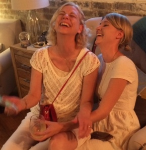laughing with Martha