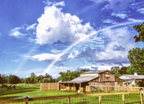 rainbows over Bonne Terre