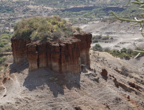 Mound at Oldupai Gorge where we can visibly see the layers of time.