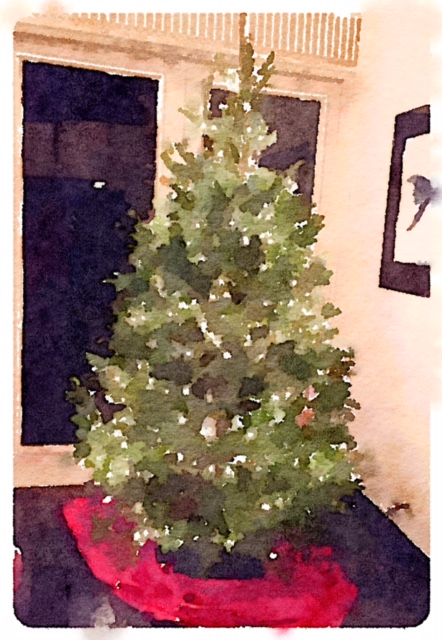 christmas-tree-waterlogue