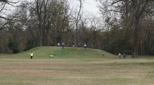 Indian mounds at the Grand Village, Natchez, MS.