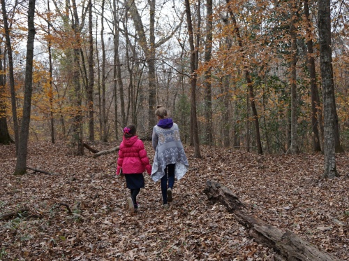 Walking the old Natchez Trace.