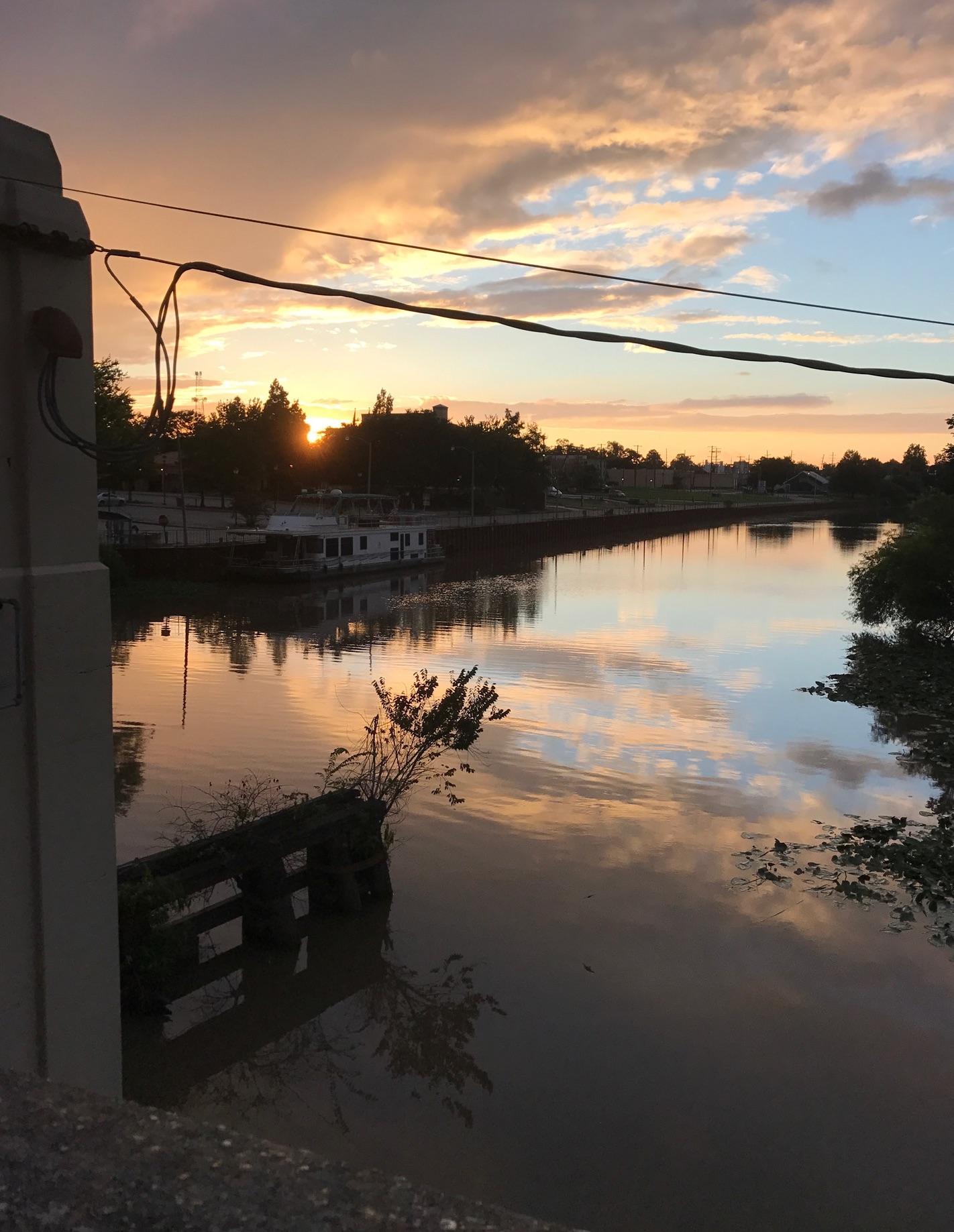 Duperier bridge sunset